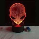 3D Alien Shape LED lamp