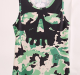 Skull Army Top