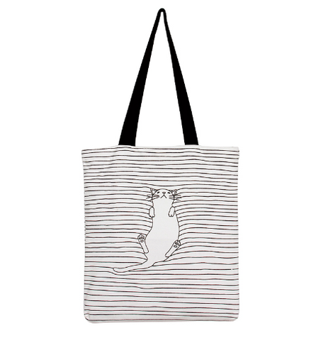 Stripped Cat Tote