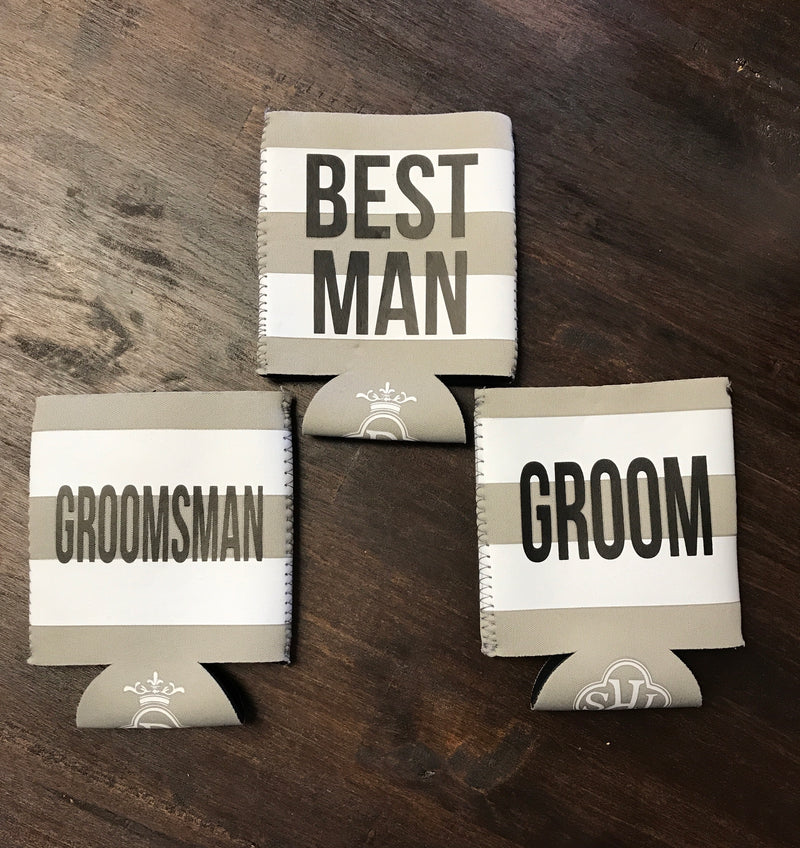 Groom's Party Drink Holders