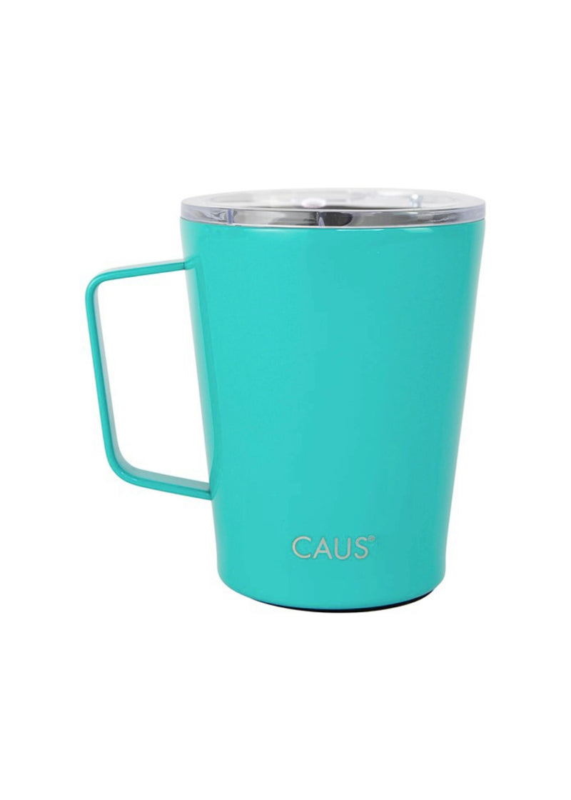Caus Cup 12 oz. Coffee Tumbler With Handle - Human Trafficking
