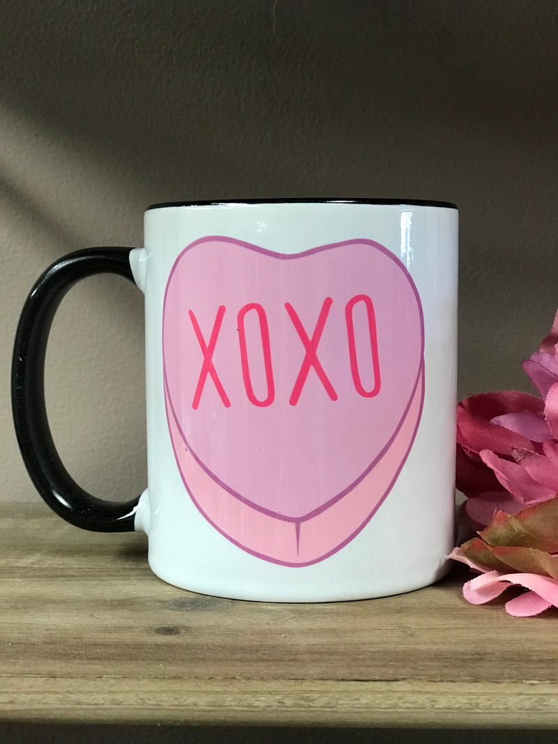 Black Handle Coffee Mugs