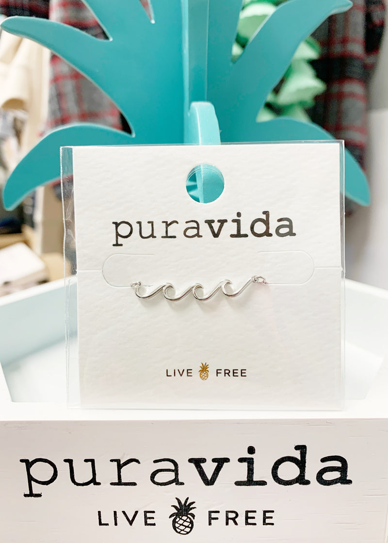 Puravida Delicate Wave Necklace