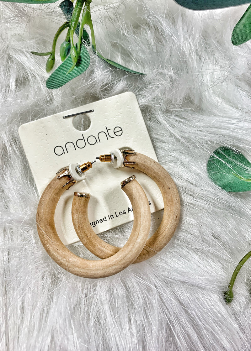 Light Natural Wood Hoops