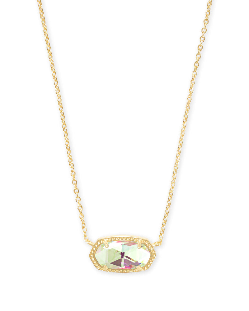 Elisa Pendant Necklace Gold with Dichroic Glass