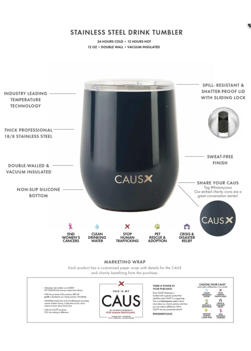 Caus Cup 8oz Small Drink Tumbler - Human Trafficking
