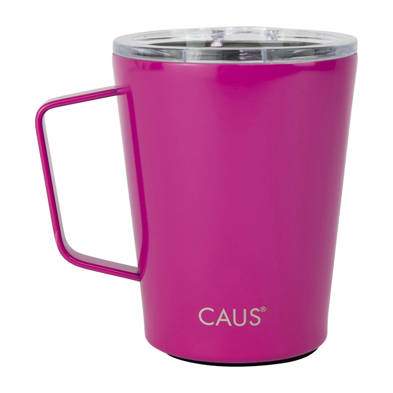 Caus Coffee Tumbler With Handle Magenta 12oz