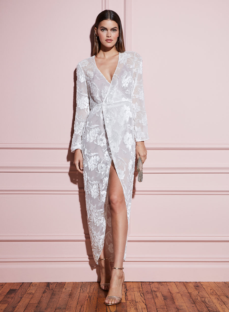 Fil Coupé Long Wrap Dress