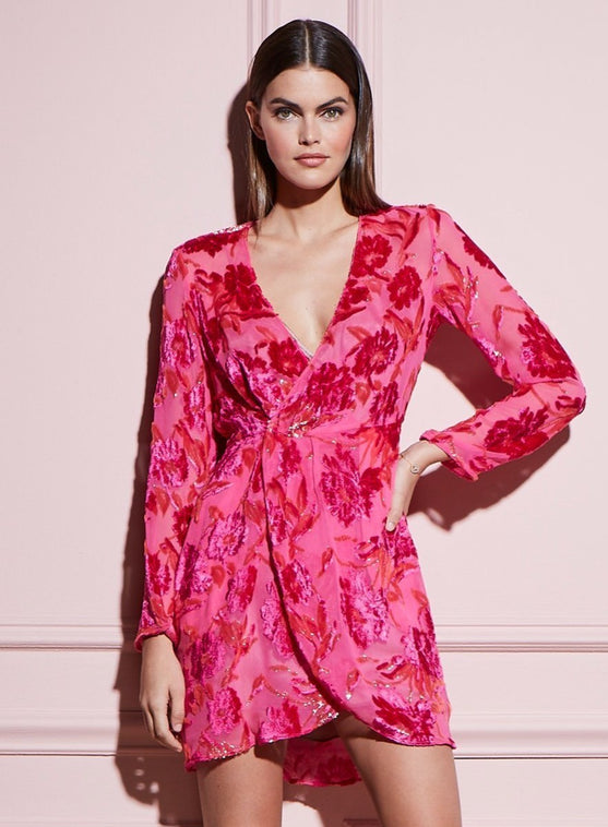 Fil Coupé Mini Wrap Dress