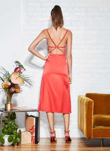 Strappy Back Apron Dress