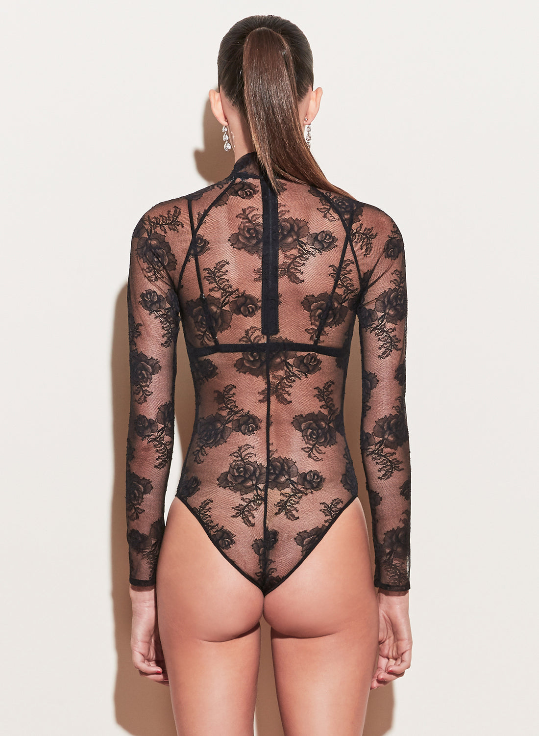 Bouquet Lace Turtleneck Bodysuit