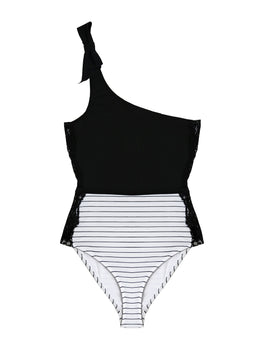 One-Shoulder Swimsuit with Lace