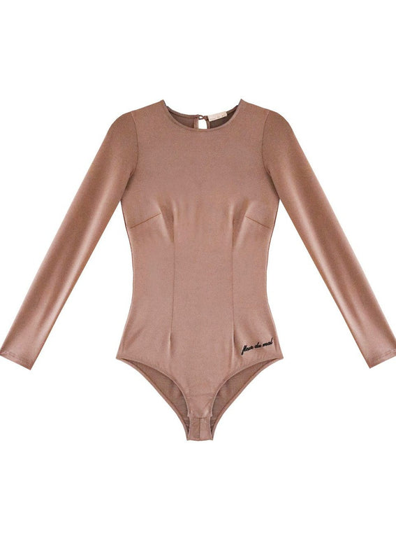 Long Sleeve Bodysuit with Embroidery