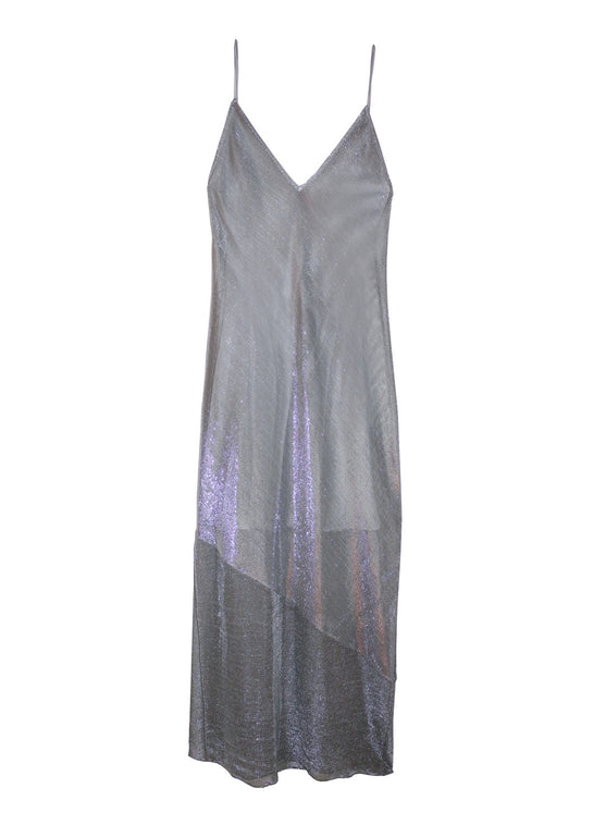 Mesh Slip Dress With Silk Lining