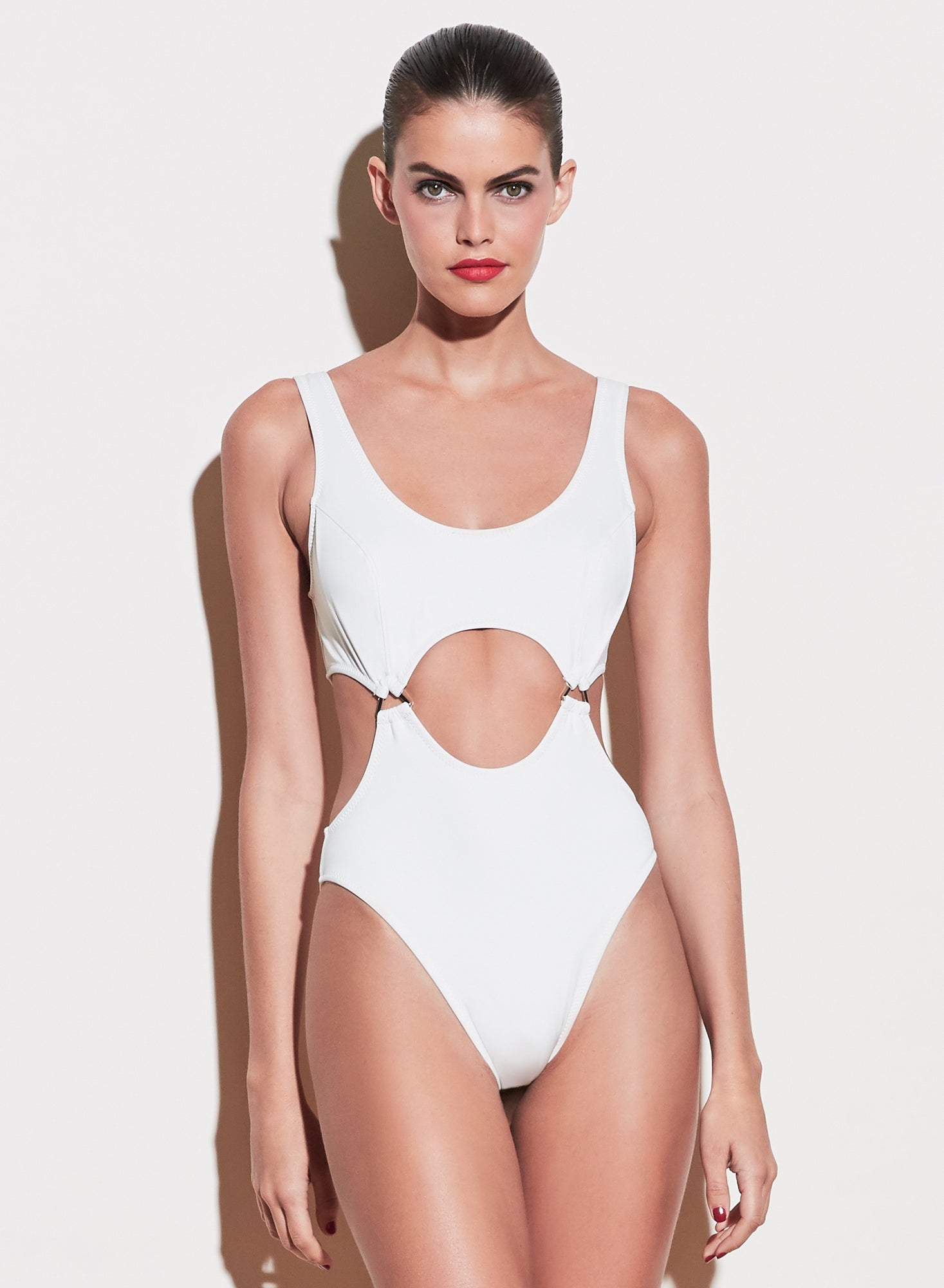 Suspender One Piece Swimsuit