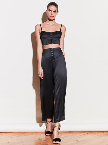 Hook & Eye Corset Waist Pant