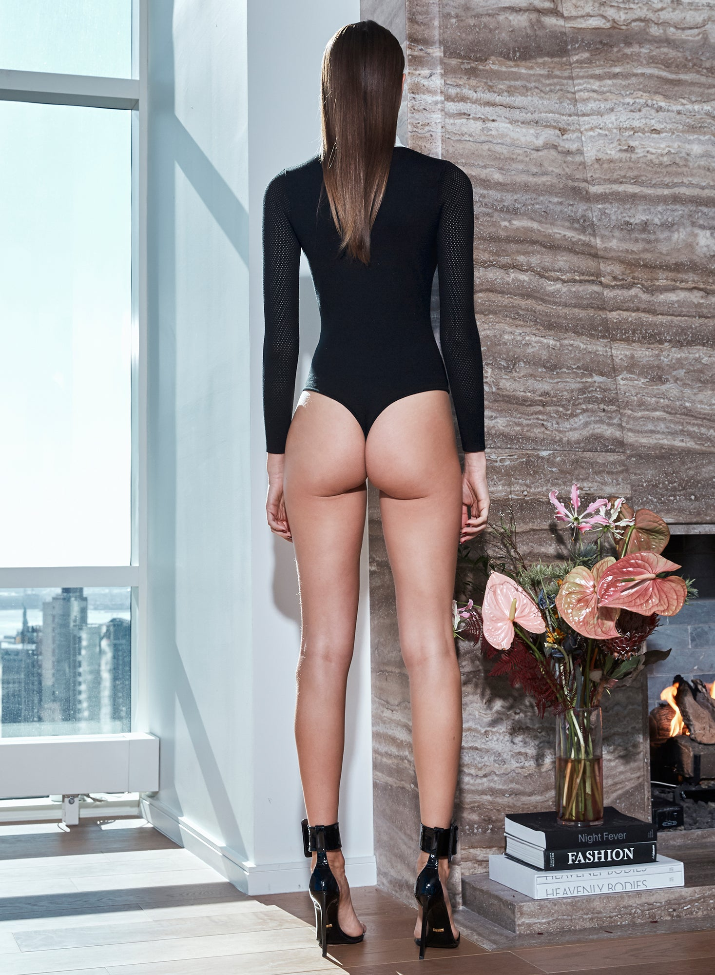 Collar Pointelle Bodysuit
