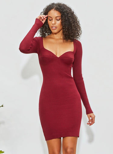 Sweetheart Knit Dress