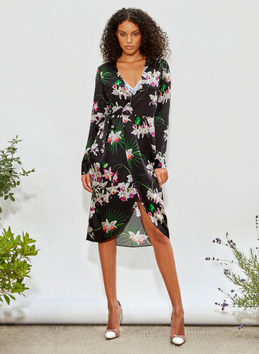 Orchid Wrap Dress