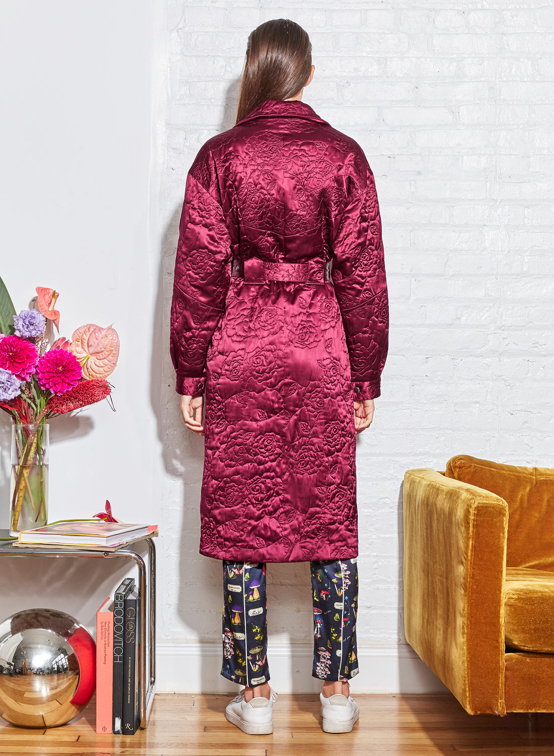 Rose Quilted Relaxed Trench