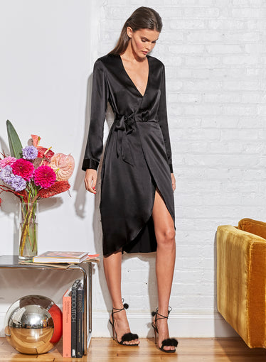 Washable Silk Wrap Robe