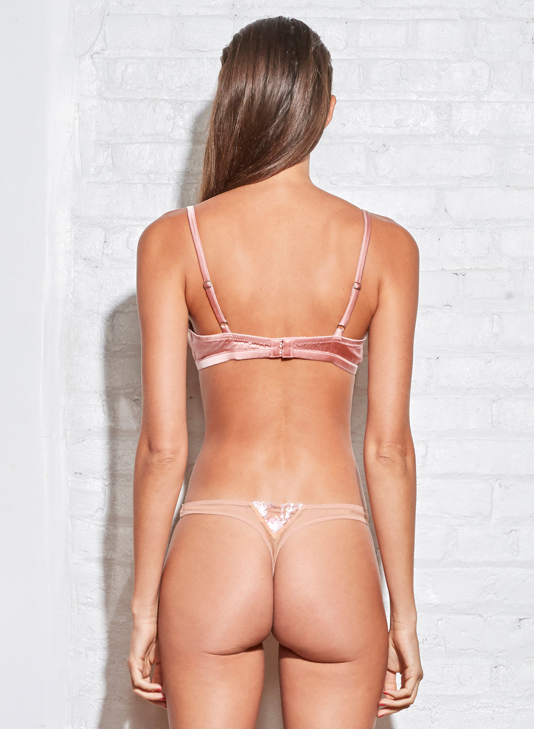 Prisma Embroidery Thong