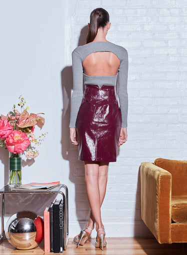 Sculpted Vegan Leather Skirt