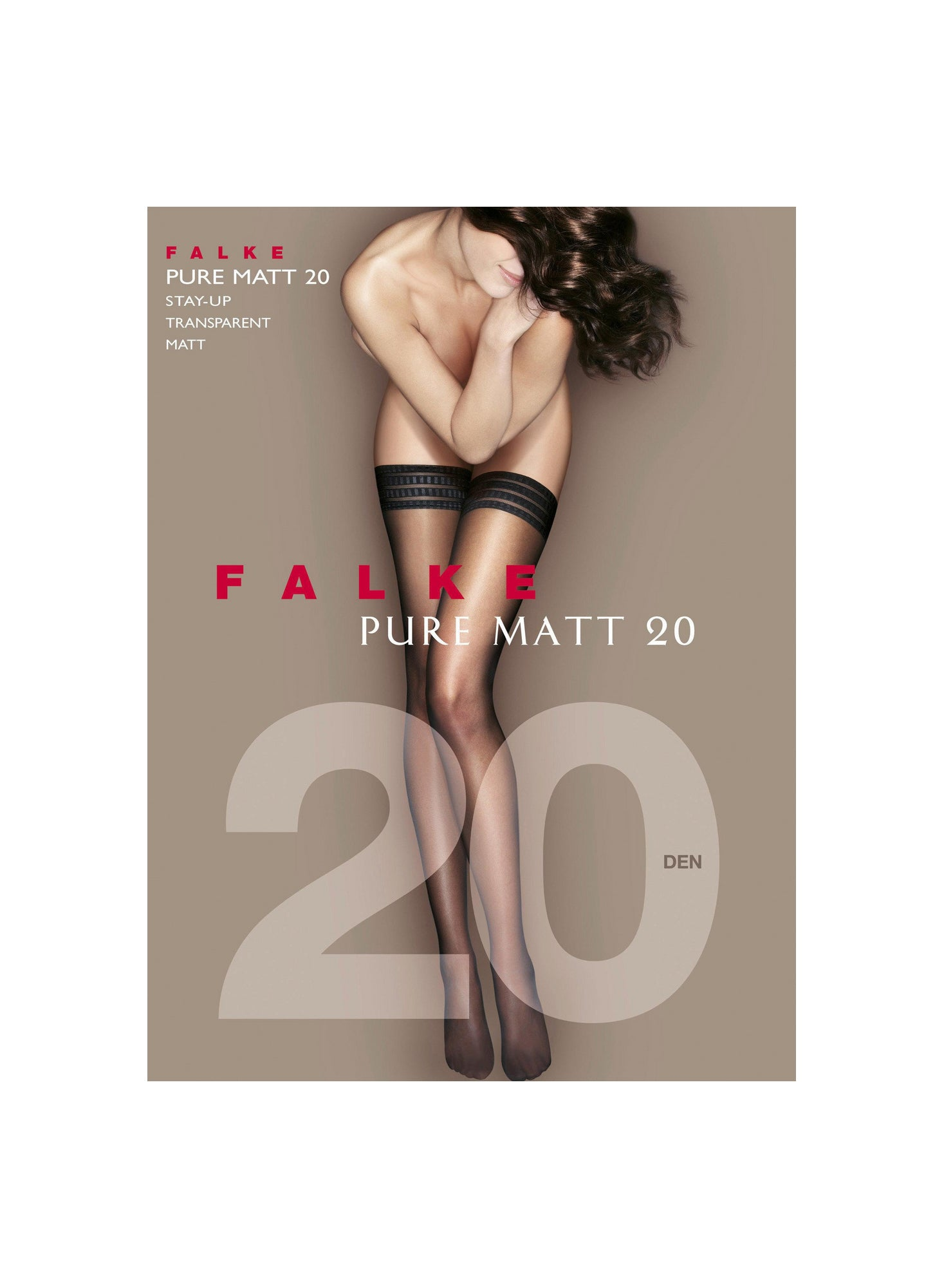 Falke Pure Matt 20 Stay Up Stockings