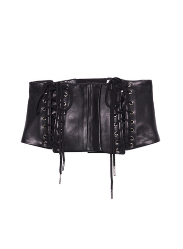 Leather Lace Up Corset Belt