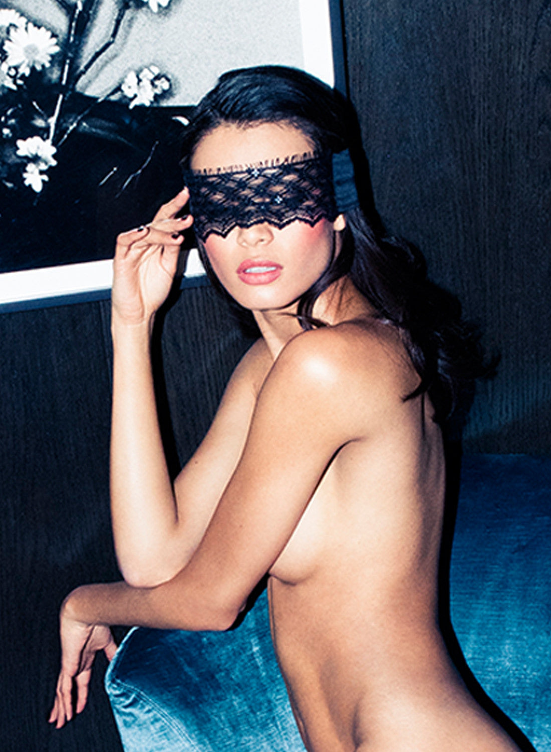 Sequined Lace Blindfold