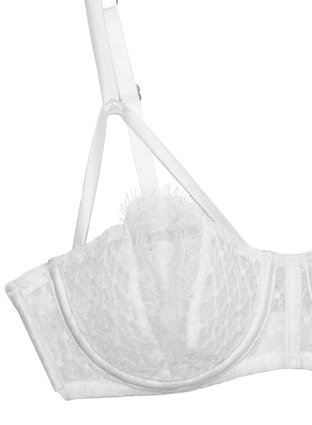French Net Lace Balconette Bra