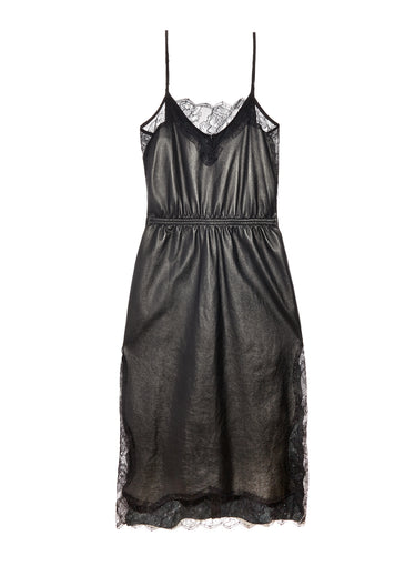Leather Rose Lace Dress