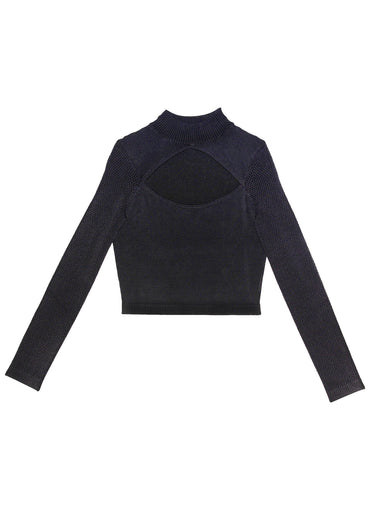 Cutout Knit Top