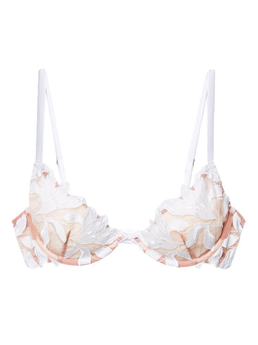 Lily Embroidery Plunge Demi Bra