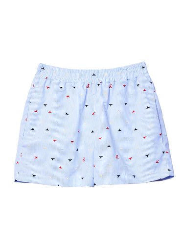 Logo Cotton Oxford Boxer Shorts