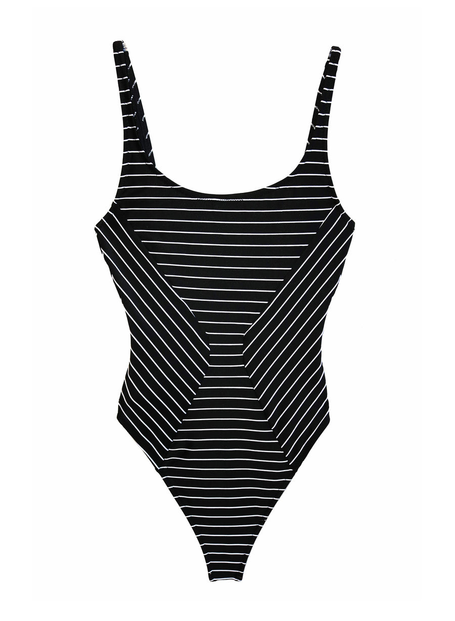 Stripe Mitered One Piece