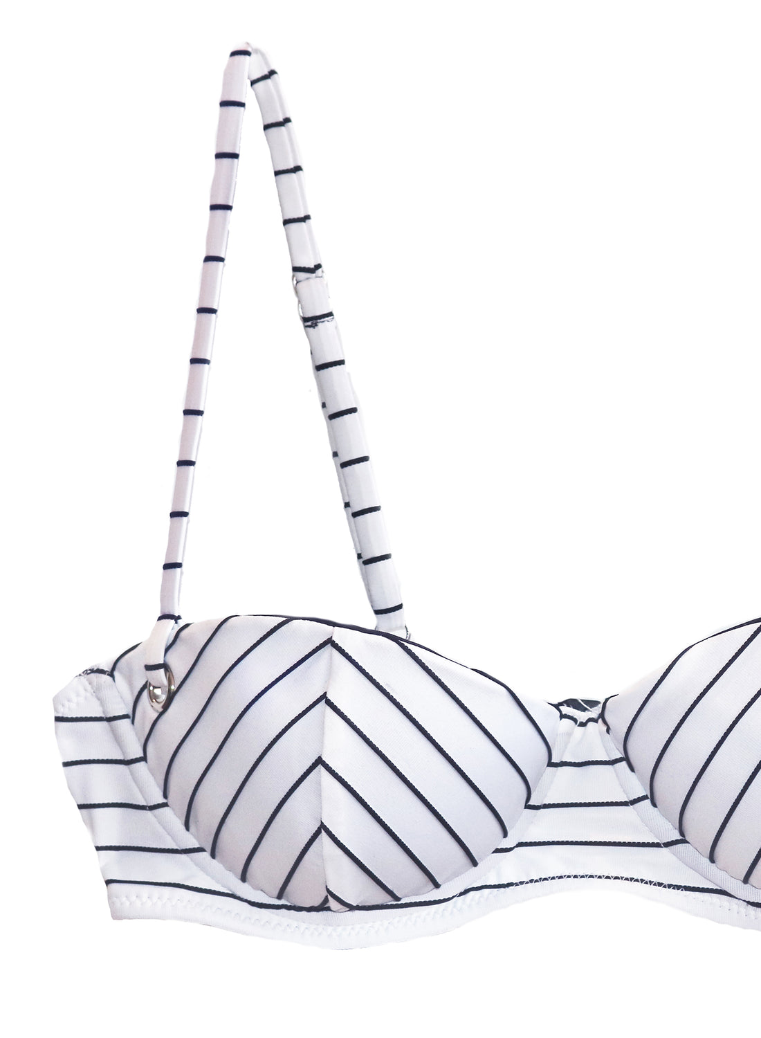 Mitered Stripe Balconette Bikini Top