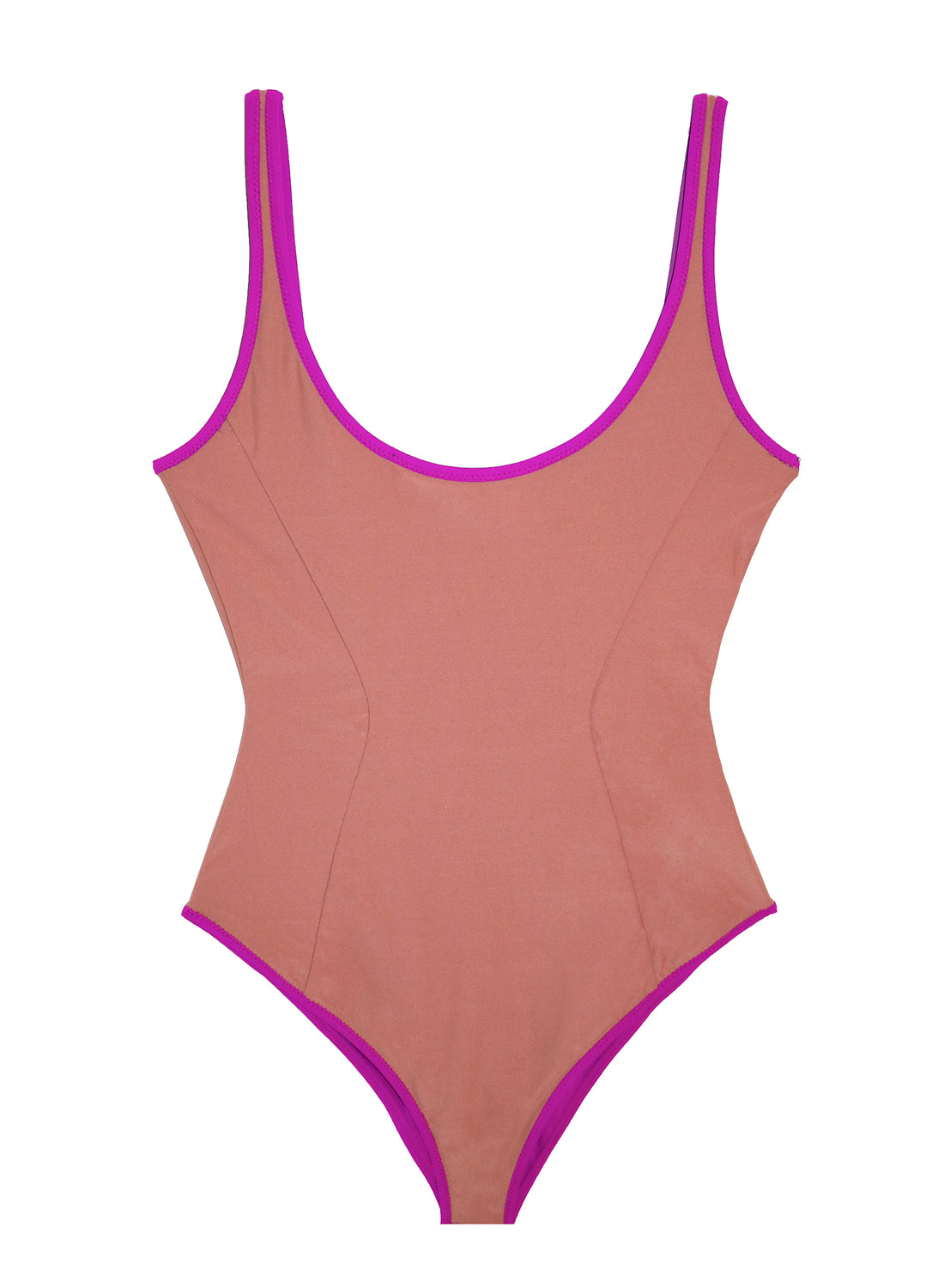 Reversible Scoop Neck Swimsuit