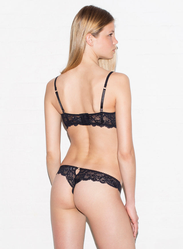 Seamless Lace Back Thong