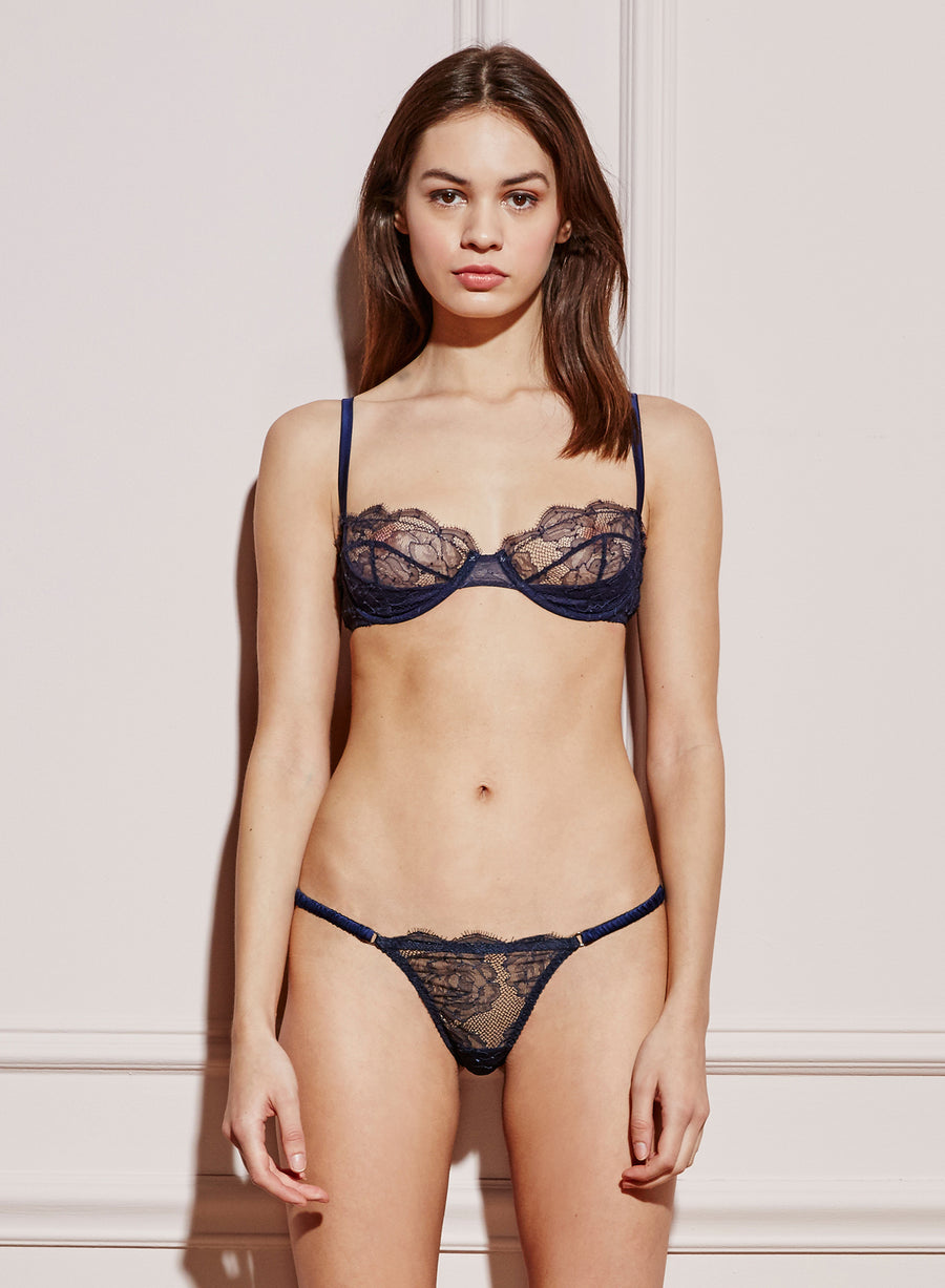 Rose Lace Unlined Demi Bra
