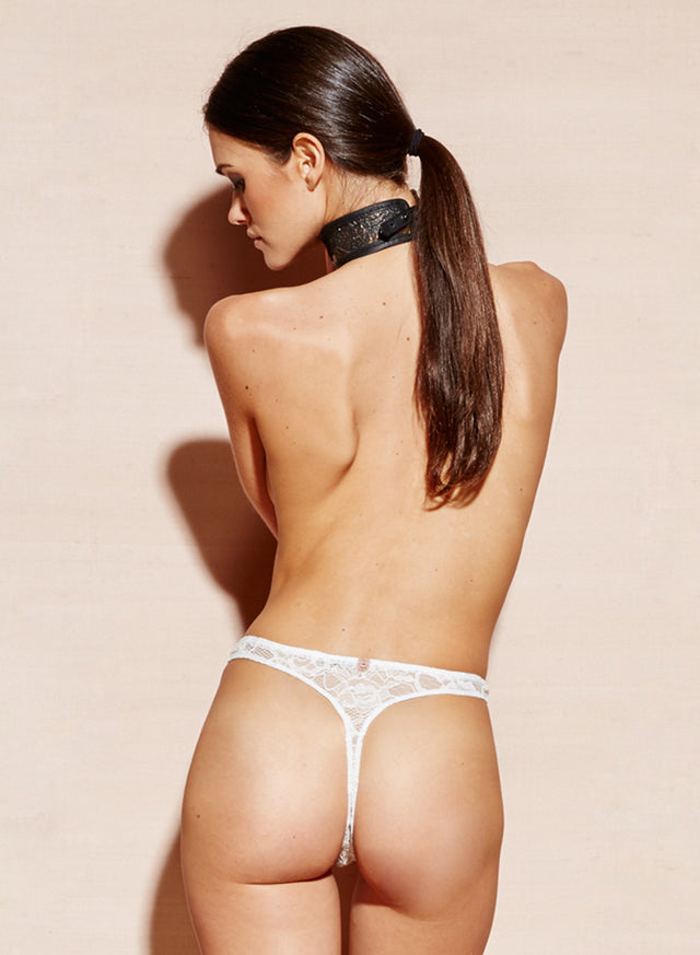 Chat Noir Lace High Leg Thong