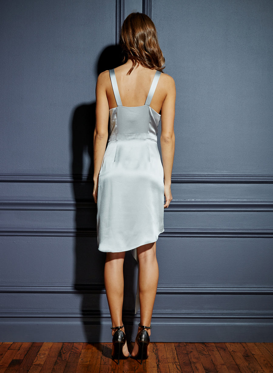 Asymmetrical Cascade Dress