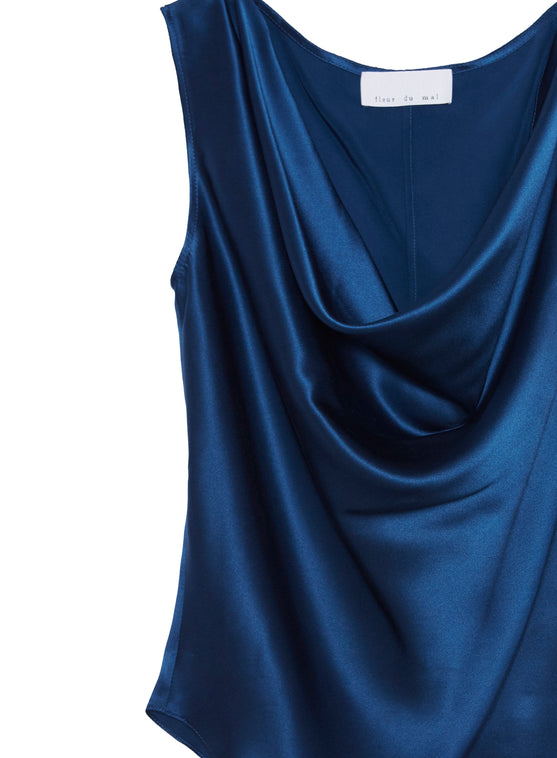 Sleeveless Cowl Neck Blouse