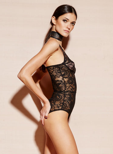 Chat Noir Lace Plunge Bodysuit