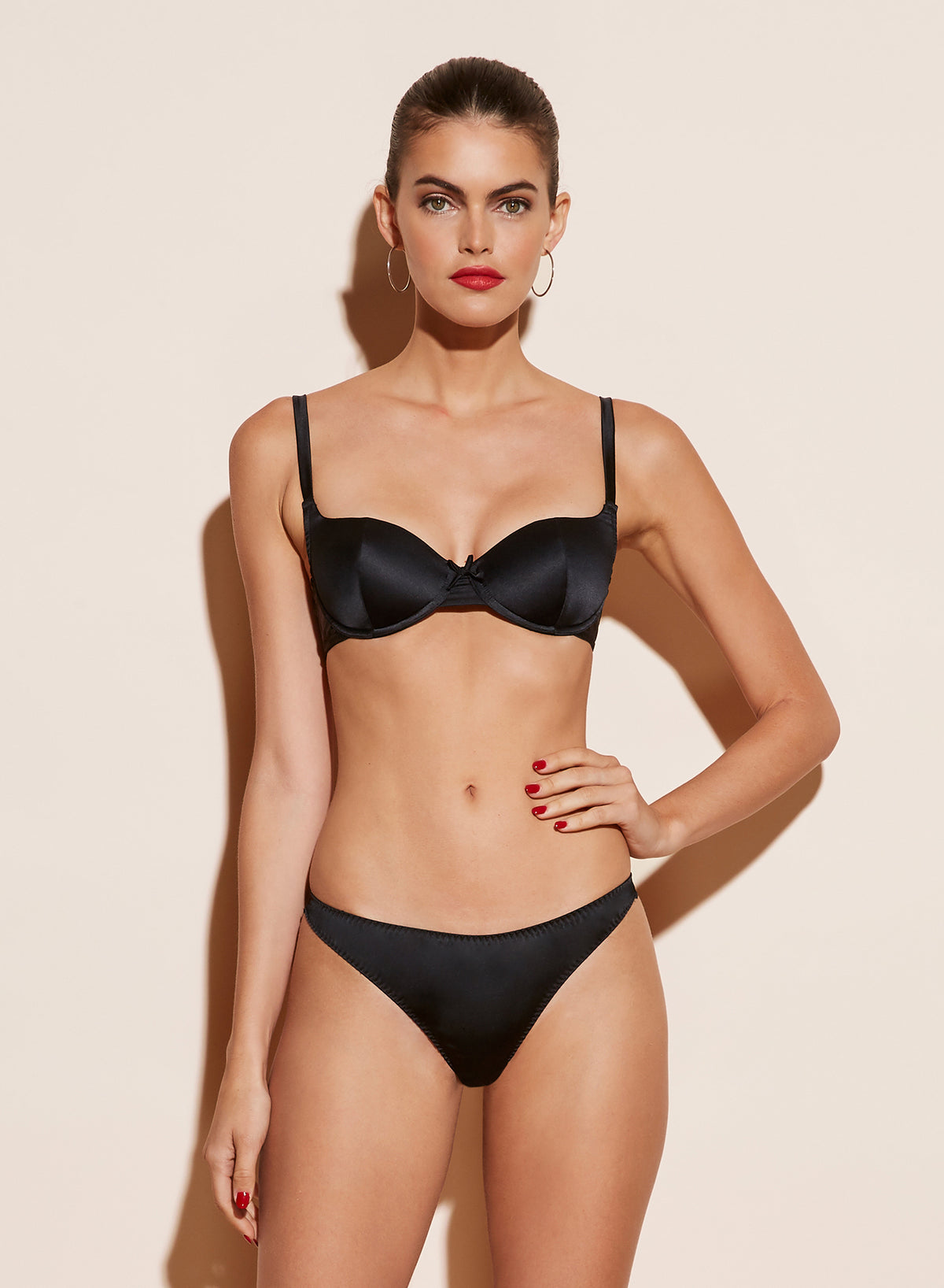 Satin Scooped Balconette Bra