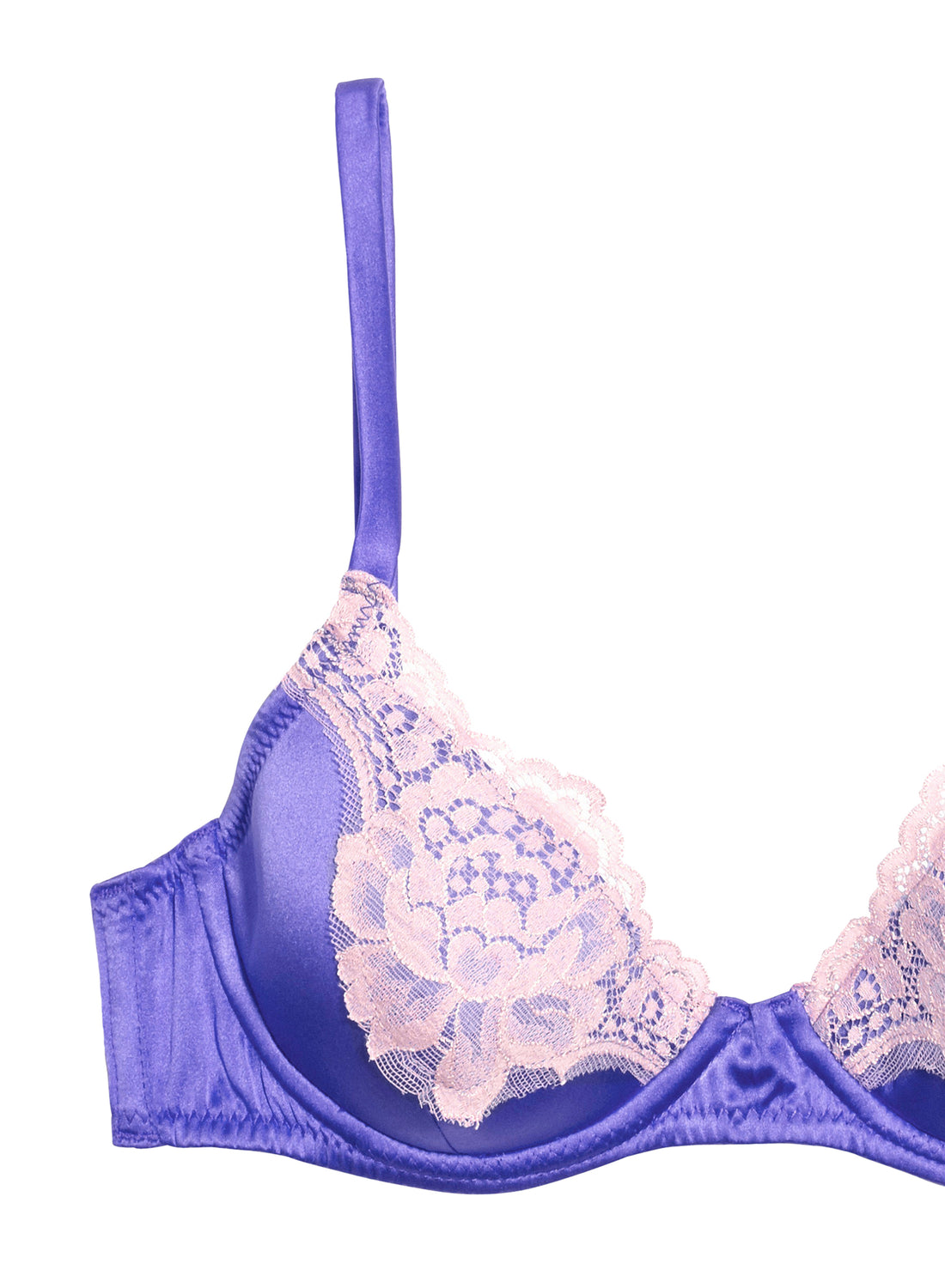 James Lace Padded Demi Bra