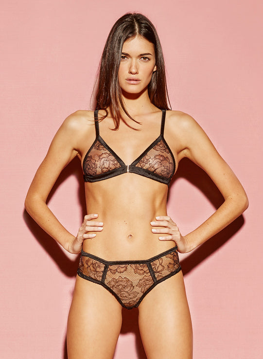 Rose Lace Triangle Bra