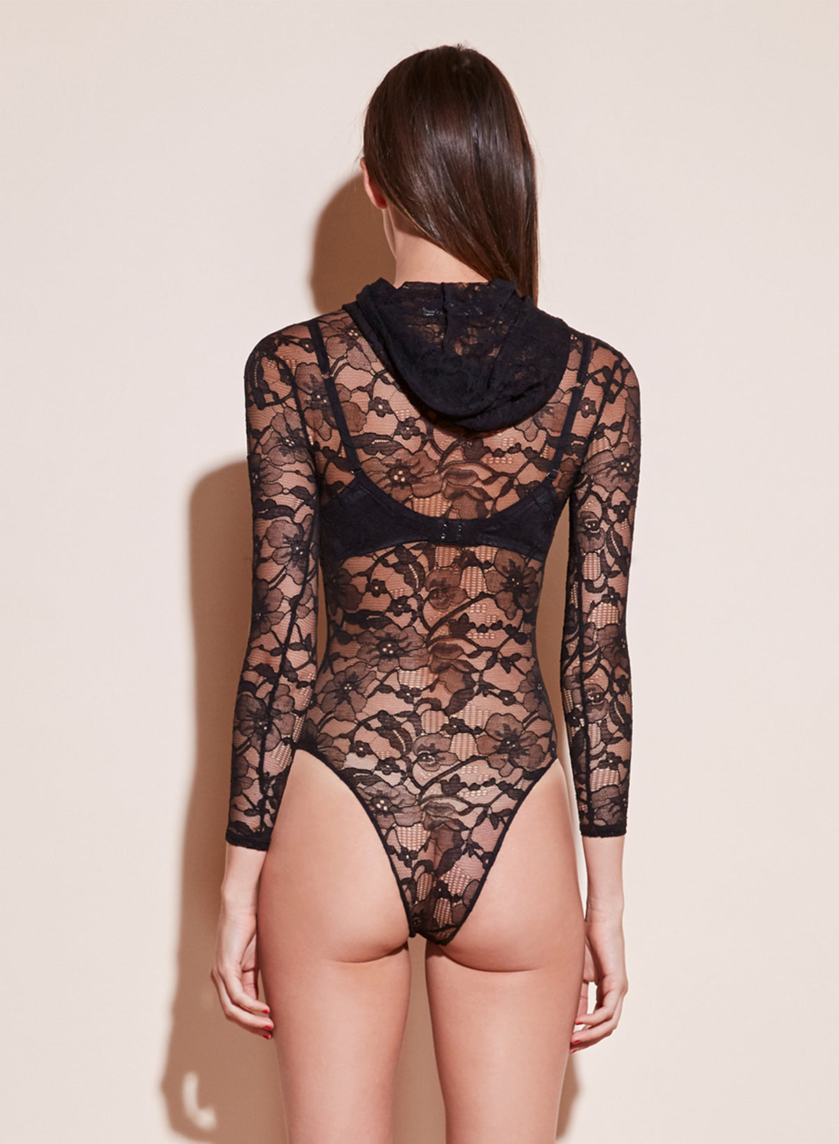 Magnolia Lace Hooded Bodysuit