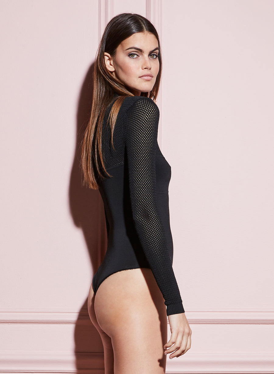 Knit Mesh Bodysuit