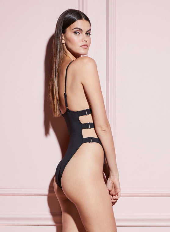 High Leg Cutout One Piece